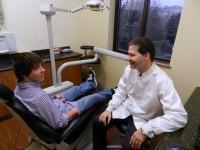 Dr.Keider with patient in dentist office